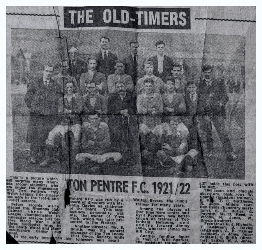 Ton Pentre FC 1921/22
