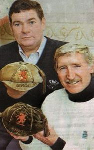 John Smith and Cliff Jones with the two caps.