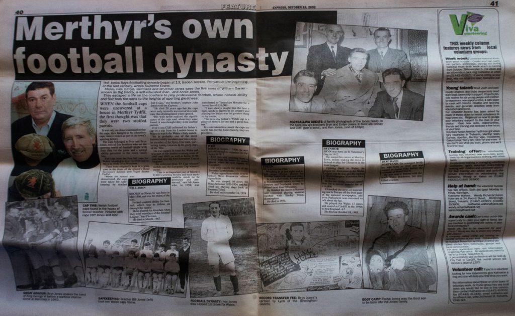 This was how the story appeared in The Merthyr Express.