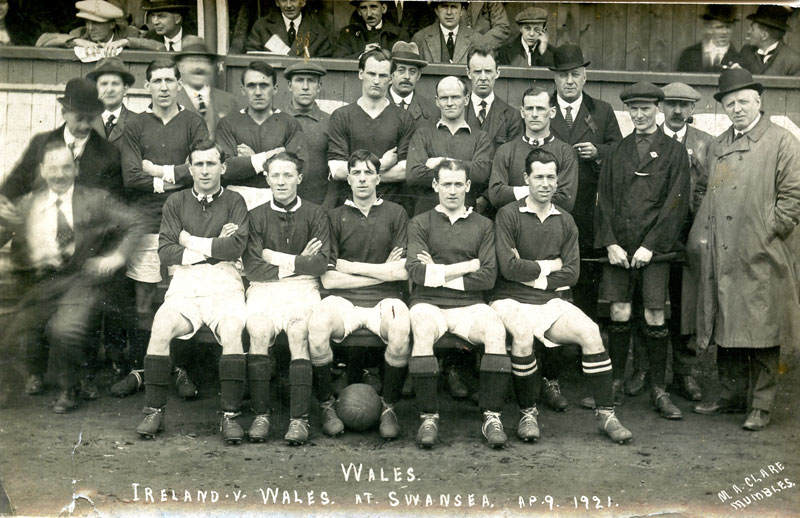 Ivor with the Wales team