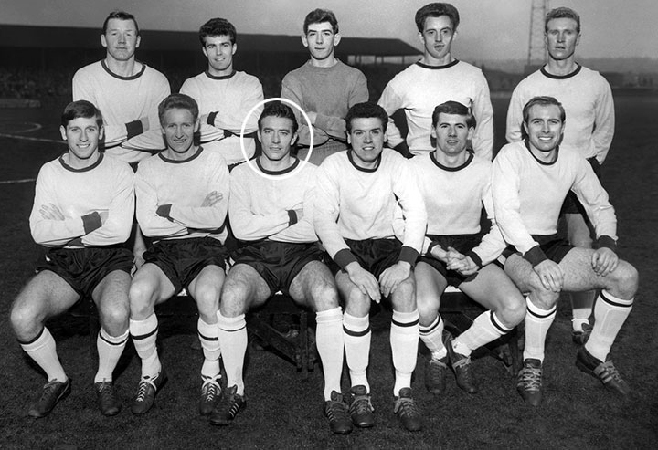 Brin with the Watford Team 1963