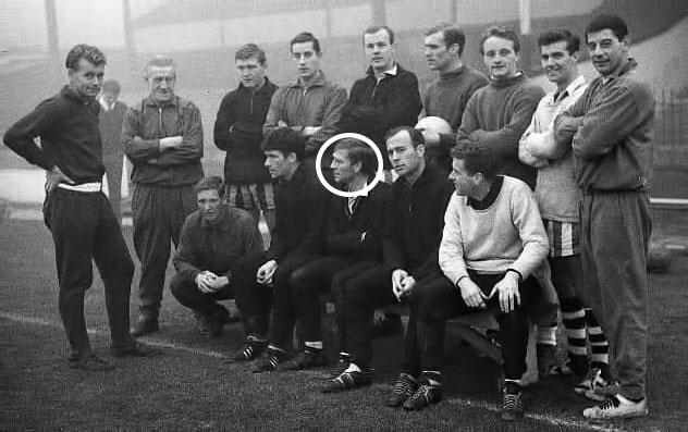 Watford FC sat next to Ron Saunders
